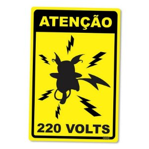Atenção 220 Volts - Placa Decorativa