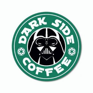 Dark Side Coffee - Placa Decorativa