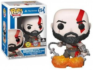 Funko Pop! Games: PlayStation - Kratos (Excl) (Glow) #154