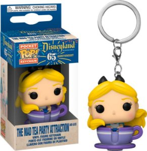 Pocket Pop Keychain: Disney - The Mad Tea Party Attraction And Alice