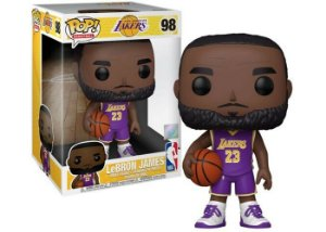 "Funko Pop Baketball: Lakers - LeBron James #98 10"" Super Sized Pop"