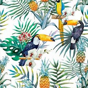 Papel de parede tucanos e araras