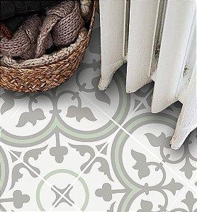 Adesivo para piso bege e verde