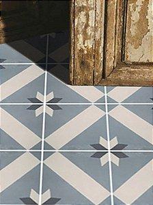 Adesivo para piso ladrilho estrela azul antiderrapante lavável
