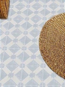 Adesivo para piso ladrilho cinza azulado