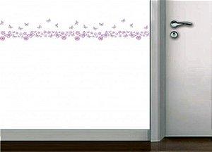 Faixa de parede borboletinhas
