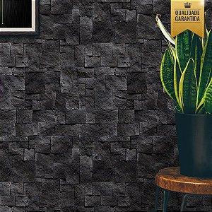 Papel de parede pedras pretas