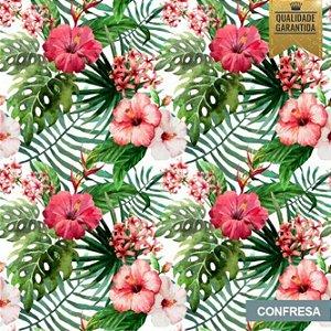 Papel de parede tropical flores
