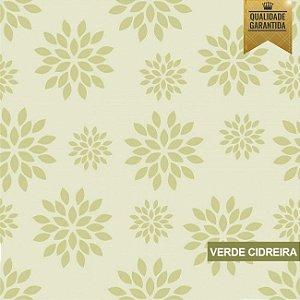 Papel de parede floral verde cidreira