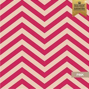 Papel de parede chevron rosa
