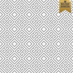 Papel de parede labirinto cinza