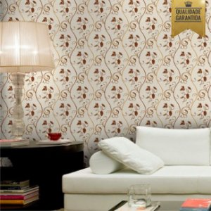 Papel de parede floral videira