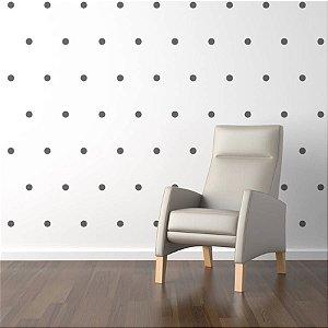 Adesivo de parede bolinhas pretas