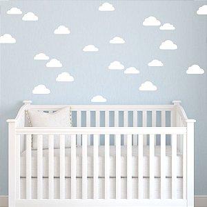 Adesivo de parede nuvens brancas