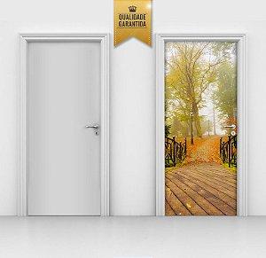 Adesivo de porta Bosque europeu