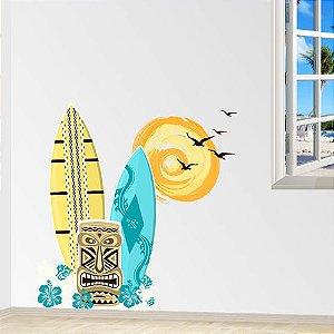 Adesivo de Parede Surfista Aloha