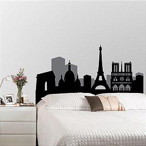 Adesivo de parede cabeceira Paris