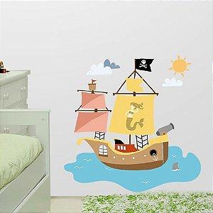 Adesivo de parede Barco pirata