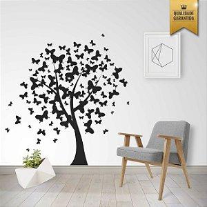 Adesivo de Parede Árvore de Borboletas