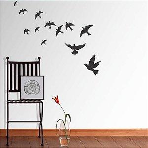 Adesivo de parede pássaros