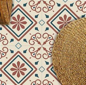 Adesivo piso arabesco lavável