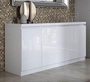 Adesivo para móveis Laca branca brilhante 3,00 x 0,50