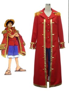 COSPLAY MONKEY D. LUFFY COM SOBRETUDO GOLD D. ROGER ONE PIECE