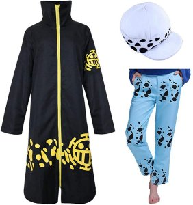 COSPLAY TRAFALGAR LAW ONE PIECE + CALÇA E CHÁPEU