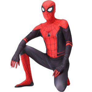 COSPLAY SPIDERMAN HOMEM ARANHA SPIDER MAN FAR FROM HOME (2019) TOM HOLLAND ADULTO + FACESHELL