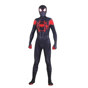 COSPLAY SPIDERMAN HOMEM ARANHA SPIDER MAN INTO SPIDERVERSE (2018) MILLES MORALES ADULTO + FACESHELL