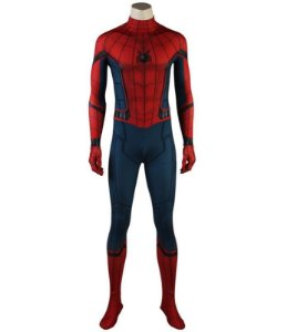 COSPLAY SPIDERMAN HOMEM ARANHA SPIDER MAN HOMECOMING (2017) TOM HOLLAND ADULTO + FACESHELL (TECIDO PREMIUM)