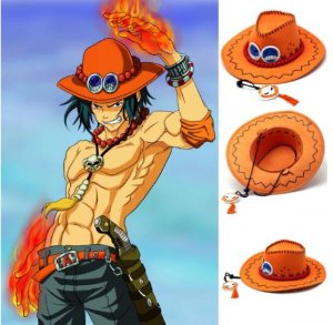 CHAPEU PORTGAS D. ACE ONE PIECE