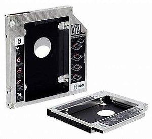 ADAPTADOR CADDY PARA SEGUNDO HD OU SSD 9.5MM OU 12.7MM P/ NOTEBOOK