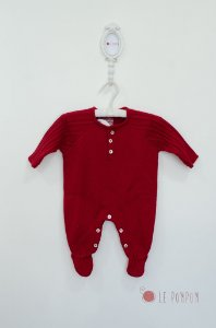 Macacão maternidade trançado vermelho