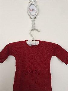 Macacão maternidade Dijon vermelho - Tamanho RN