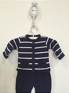 Conjunto maternidade Leblon navy - Tamanho RN