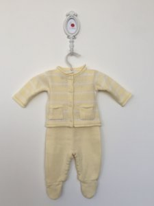 Conjunto maternidade Leblon amarelo - Tamanho RN