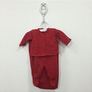Saída maternidade Julia vermelha - Tamanho RN