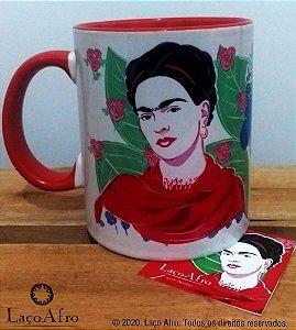 Caneca porcelana vermelha Frida