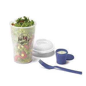 Pote para Salada com Porta Molho