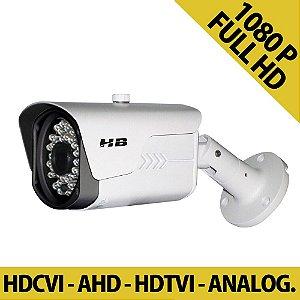 Câmera Full HD 4 em 1 Híbrida 25 Metros 2 Megapixel - HDTVI | AHD | HDCVI | ANALÓGICA