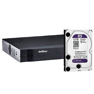 Dvr Hdcvi Intelbras Tribrido 1016 Hd 16 Canais Com HD de 1 Terabyte