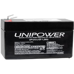 Bateria Selada Unipower - 12 Volts 1,3Ah Recarregável