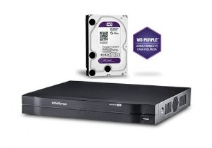 Dvr HDCVI Intelbras Multi HD 08 Canais Mhdx 1008 Com HD 1 Terabyte Purple