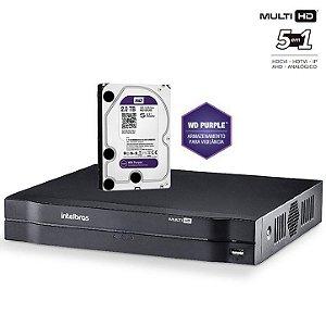 Dvr HDCVI Intelbras Multi HD 08 Canais Mhdx 1008 Com HD 2 Terabyte Purple