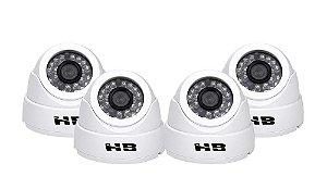 Kit 4 Câmeras Hdcvi Hb 2000 Alta Definição 960p HB Tech 25 Metros 960p
