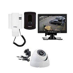 """Kit Vídeo Porteiro Tela 7"""" Câmera e Porteiro Intelbras Ipr 8010"""