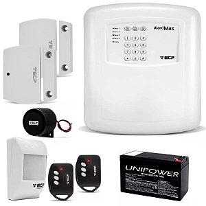 Kit Segurança Alarme Residencial Comercial Ecp Alard Max 4 Com Bateria