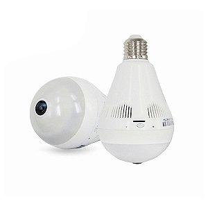 Câmera Segurança Ip Lampada 360 Wifi Panorâmica App Grátis