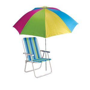 Kit Praia - Guarda Sol + 1 Cadeira De Praia Mor